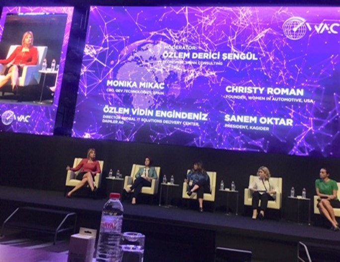 Sanem Oktar, President of KAGİDER called for higher levels of women employment in the automotive industry in World Automotive Conference